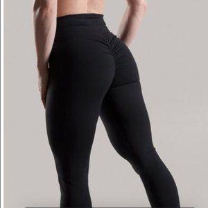 ABS2B Black Scrunch Butt Ankle Wrap Leggings XS